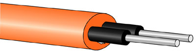 GHEL4002-OR Eska™ Premier Polyethylene Buffered & Hytrel Sheathed Fiber Cord