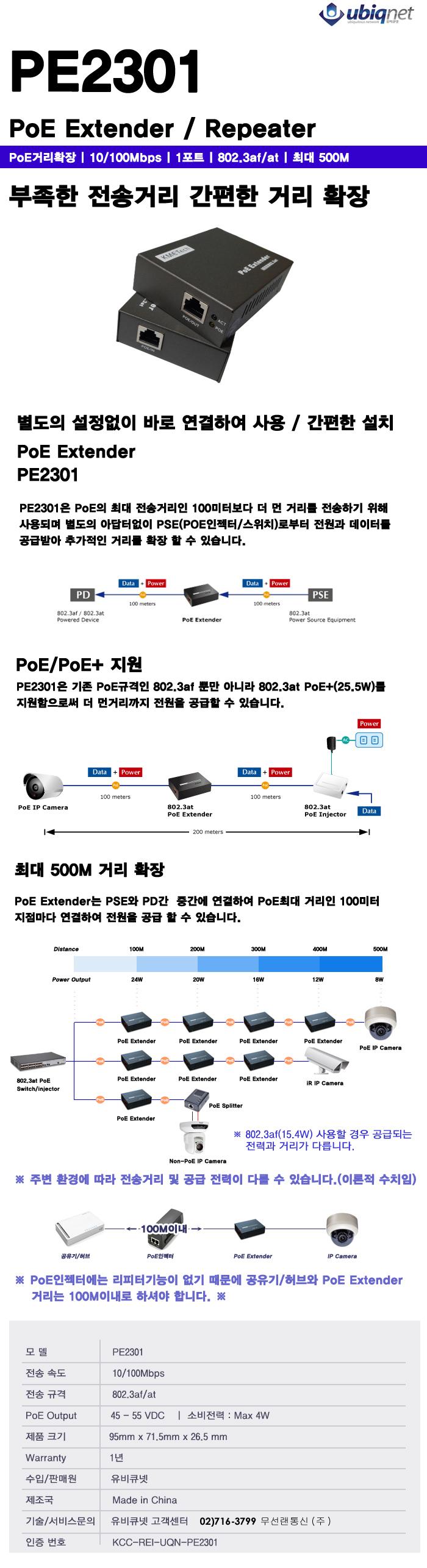 PE-2301 POE Extender