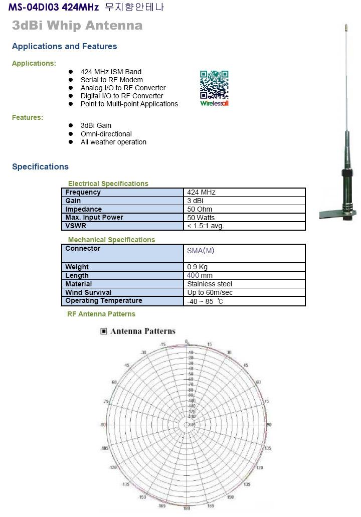 MS-04DI03 424MHz