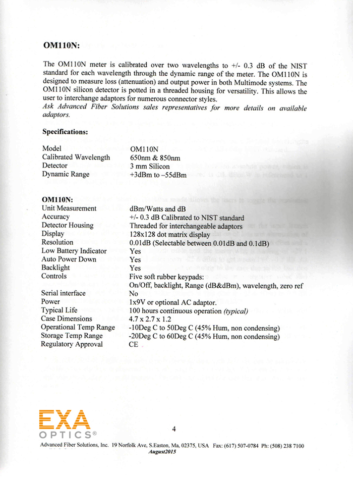 EXA_OM110N_POWERMETER_POF