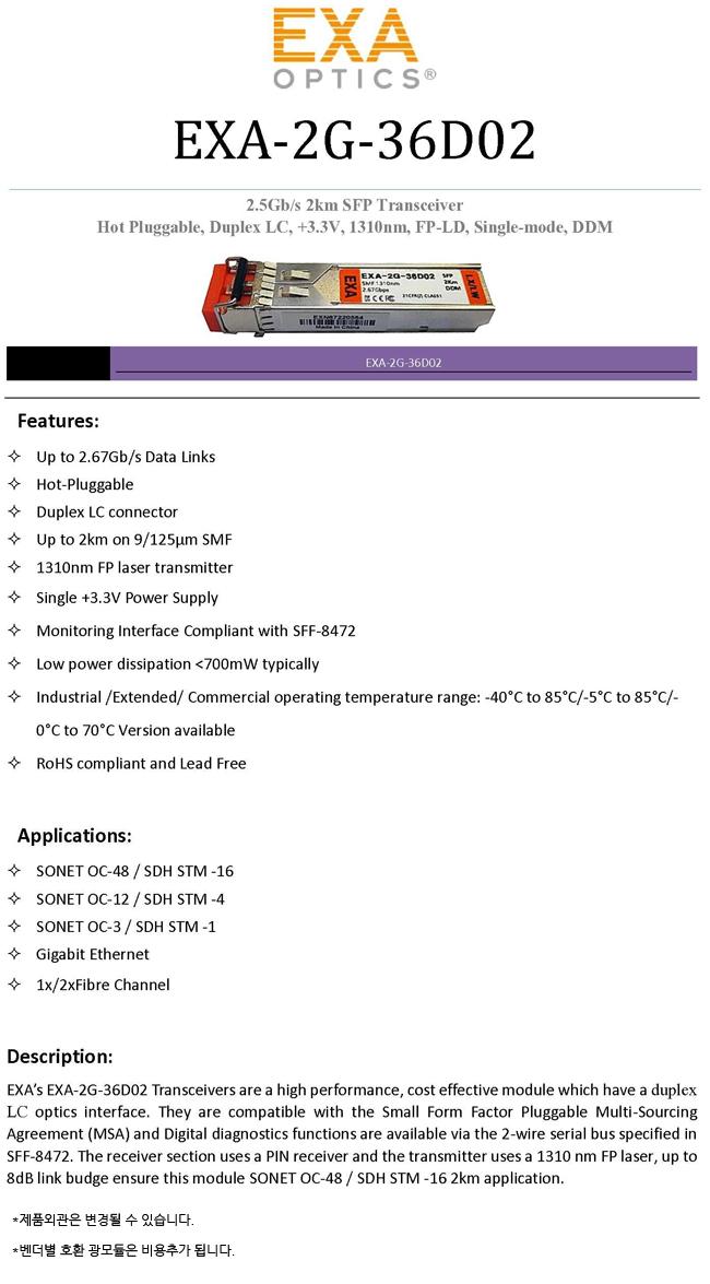 EXA-2G-36D02-SPEC