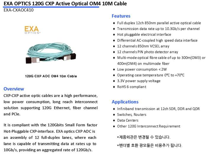 EXA-CXAOC410-SPEC