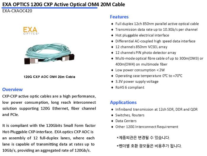 EXA-CXAOC420-SPEC
