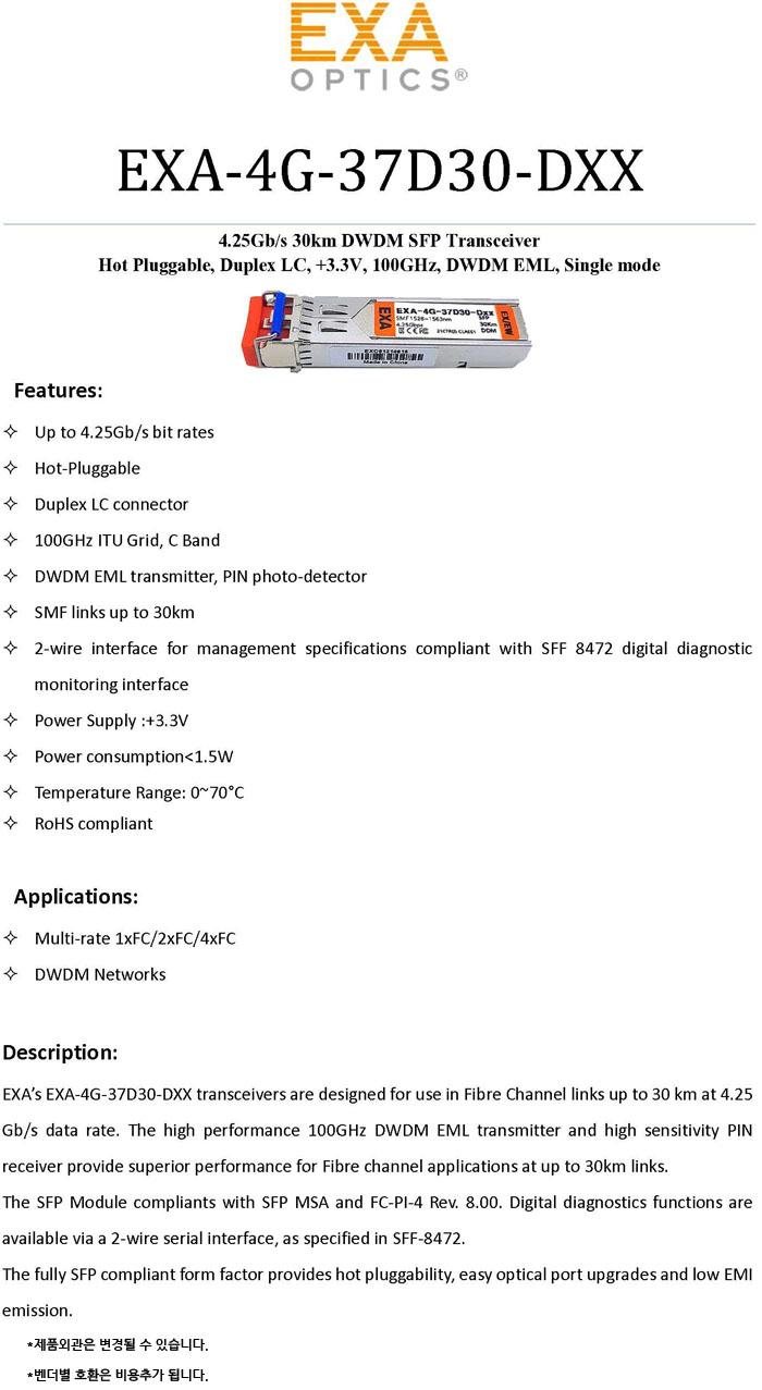 EXA-4G-37D30-DXX-SPEC